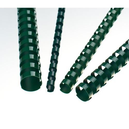 Plastové hřbety 22 zelené