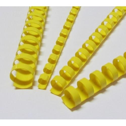 Plastové hřbety 25 žluté