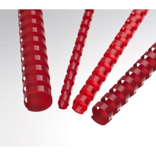 Plastové hřbety 6 červené